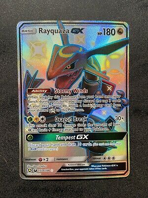 $ CDN90 • Buy Pokemon- Hidden Fates- Shiny Rayquaza GX 177a/168 - LP - See Pics & Description