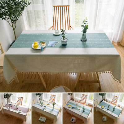 AU28.99 • Buy Fashion Tablecloth Cotton Linen Table Cloth Table Cloth Cover Dining Room Decor