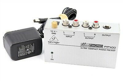 $45 • Buy Behringer Microphono PP400 Ultra-Compact Phono Preamp