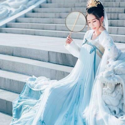 $ CDN42.31 • Buy Traditional Hanfu Embroidery Ancient Costume Chinese Style Elegant Women Dress