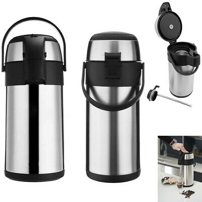 £18.49 • Buy 3L/5L Tea Coffee Air Pot Flask Pump Action Vacuum Insulated Carry Handle DIY