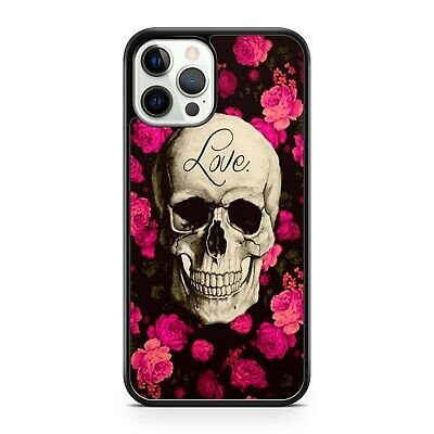AU10.78 • Buy Smiling Fine Skull Face Love Quote Pretty Pink Flowers Floral Phone Case Cover