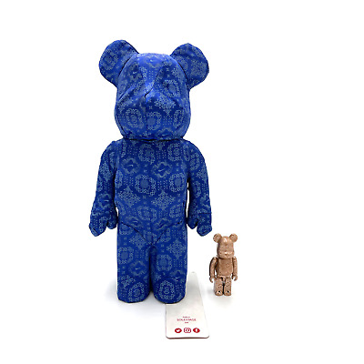 $388 • Buy Bearbrick X Clot X Nike 100% & 400% Set Royale University Blue Silk 2020