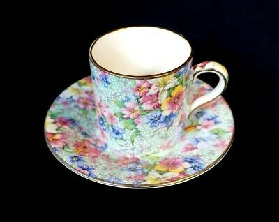$ CDN72.29 • Buy Beautiful Royal Winton Grimwades Chintz Marion Demitasse And Saucer