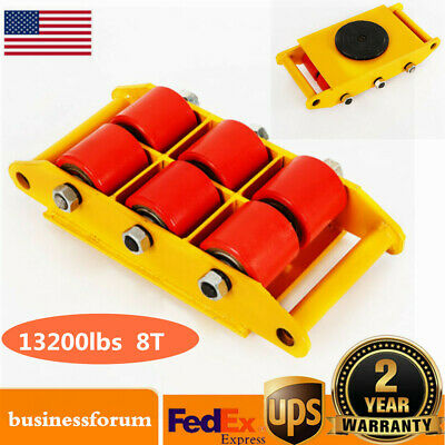 $79 • Buy 8 Ton Heavy Duty Machine Dolly Skate Roller Machinery Mover 360° Rotation Cap US