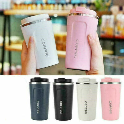 £8.99 • Buy Insulated Coffee Mug Cup Travel Thermal Stainless Steel Flask Vacuum Leakproof