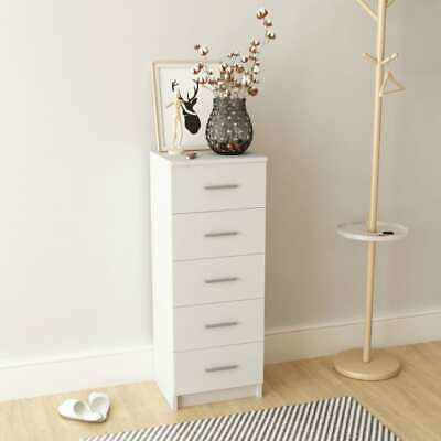 AU157.95 • Buy Tall Chest Of Drawers Cabinet Chipboard 5-Drawer Dresser Home Bedroom Furniture