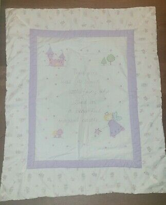 £10 • Buy Cot Bed Quilt And Organiser Storage Pockets Fairy Unicorn Castle Fairytale