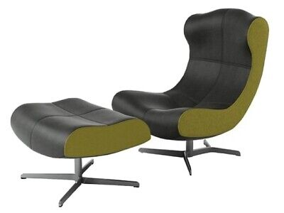 £1025 • Buy Ligne Roset Alster Swivel Chair And Matching Footstool