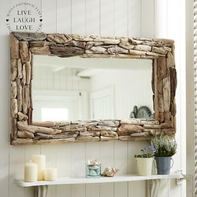 £145 • Buy Large Natural Rectangle Driftwood Mirror - Nautical Decor & Accessories