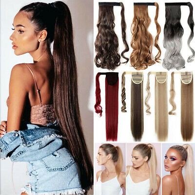 £8.90 • Buy Long 31  Real Wrap Arond Ponytail Clip In On Hair Extensions One Piece Fake Hair