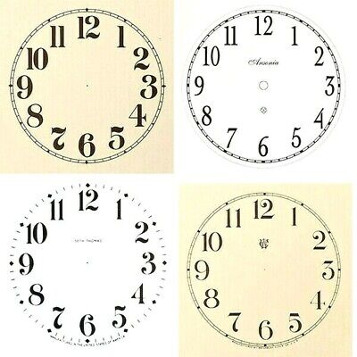 £3.99 • Buy New Replacement Arabic Clock Dials Faces Strong Card Paper - Sizes 50mm - 300mm