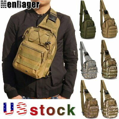 $13.19 • Buy Men Military Tactical Chest Pack Outdoor Hiking Travel Sling Small Shoulder Bag