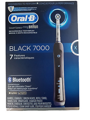 AU154.47 • Buy Oral-B Pro 7000 SmartSeries Black Electronic Power Rechargeable Toothbrush