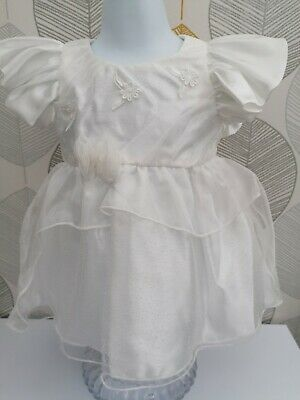 £24.99 • Buy Ivory Baby C Satin Dress, Aged 0 To 3 Months, BNWT.