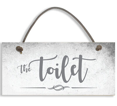 £3.99 • Buy #1501 THE TOILET Shabby Chic Door Sign Plaque Sign For Toilet Or Bathroom