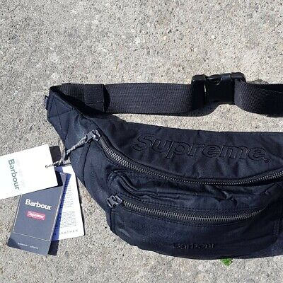 £119 • Buy Supreme X Barbour Cotton Waxed Waist Bag LIMITED EDITION