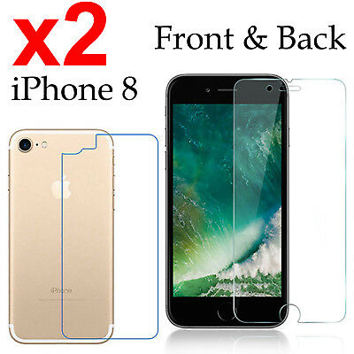 AU4.99 • Buy X2 Anti-scratch 4H PET Film Screen Protector For Apple Iphone 8 Front + Back