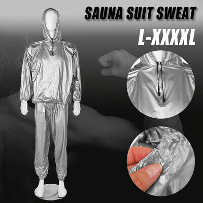 AU17.96 • Buy  Women Men Sweat Sauna Gym Suit Fitness Loss Weight Exercise Training Body  L