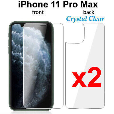 AU5.50 • Buy X2 Soft 4H PET Film Screen Protector For Apple Iphone 11 PRO MAX Front And Back