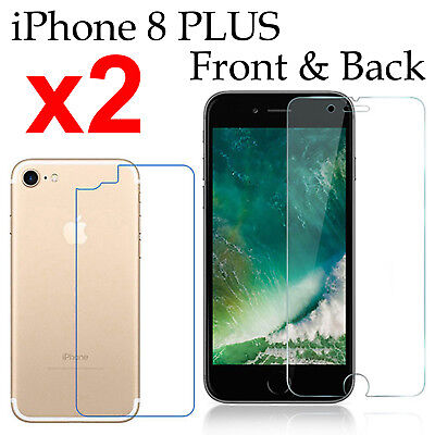 AU5.50 • Buy X2 Soft 4H PET Film Screen Protector For Apple Iphone 8 PLUS Front And Back