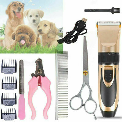 £8.29 • Buy Electric Pet Hair Trimmer Shaver Kit Cat Dog Grooming Clippers Cordless Quiet UK