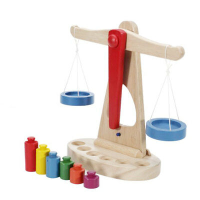 £14.59 • Buy Early Educational Baby Wooden Scale Balance Montessori Toys Children Game
