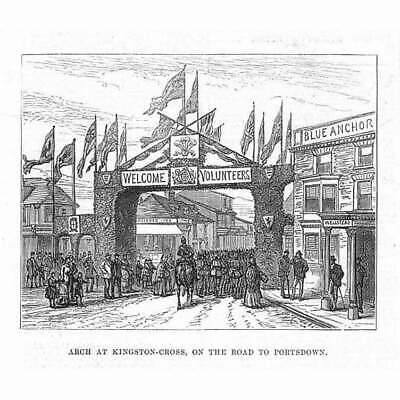 £5.95 • Buy PORTSMOUTH Arch At Kingston Cross On The Portsdown Road - Antique Print 1882