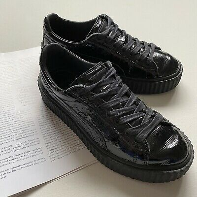 AU110 • Buy Puma Fenty By Rihanna 37.5 7 Black Patent Leather Creepers Sneakers Trainers