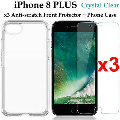 AU9.99 • Buy X3 For Apple IPhone 8 PLUS Soft Front Screen Protector & Back Clear Case Cover