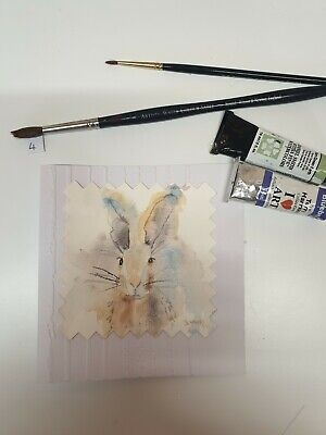 £3.50 • Buy Hand Painted Watercolour Hare Card (4)