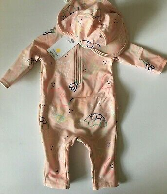 £8.99 • Buy Baby Girls M&S Pink Swimwear With Matching Hat 0-3 Or 6-9 Months  RRP £18