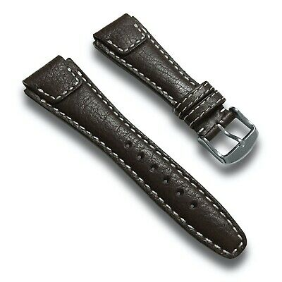 $36 • Buy 22mm Brown Genuine Buffalo Leather Watch Band Strap Pilot Style - White Stitch