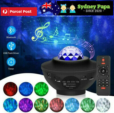 AU36.95 • Buy LED Lamp Night Light Galaxy Starry Projector Ocean Star Sky For Party&Kids&Baby