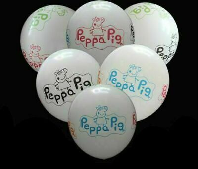 £3.29 • Buy 12  Peppa Pig George Birthday Party Latex White Balloons Decorations