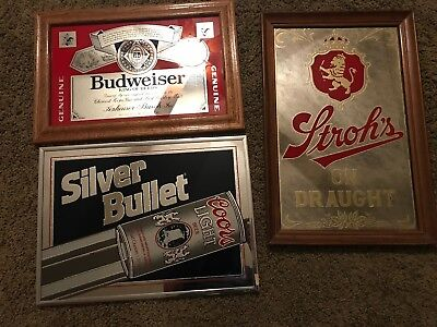 $ CDN100.42 • Buy Lot Of 3 Vintage Coors, Budweiser & Strohs On Draught Mirrors