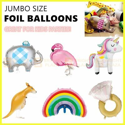 AU7.95 • Buy Large Foil Balloon Kids Birthday Party Jumbo Balloons Decoration Unicorn Animal