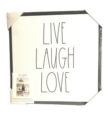 £12.75 • Buy Rae Dunn LIVE LAUGH LOVE Wooden Canvas Picture Frame Gift Idea HTF #1787