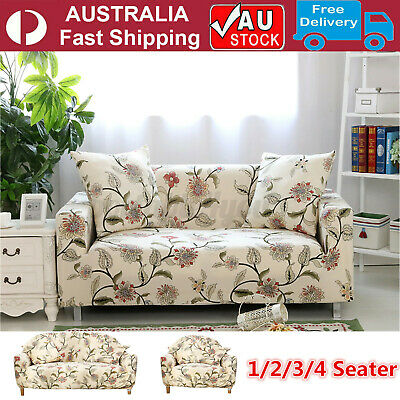 AU30.96 • Buy 1/2/3/4 Seater Sofa Cover Couch Lounge Protector Slipcovers High Stretch Covers