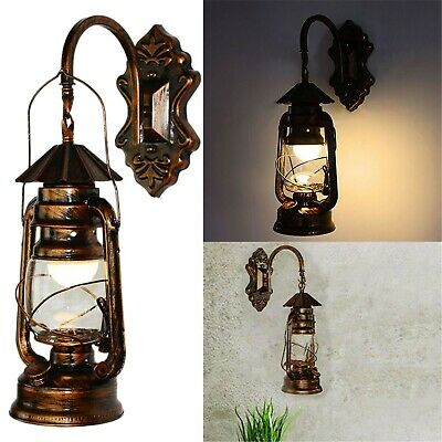 £14.99 • Buy Retro Antique Vintage Rustic Glass Wall Sconce Light Lamp Fixture Outdoor E27