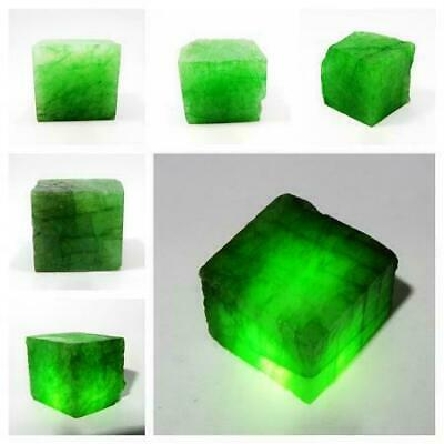 £17.18 • Buy Natural Green Colombian Emerald Rough Cube Certified Loose Gemstone