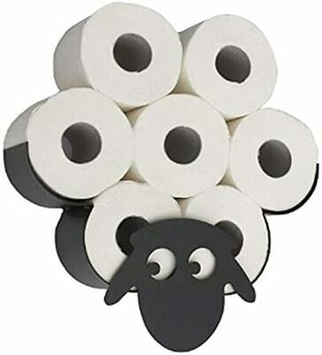 AU35.99 • Buy Toilet Paper Roll Holder Stand Metal Sheep Tissue Storage Bathroom Organizer AU