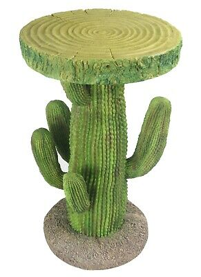 £110 • Buy 51.5cm Cactus Side Occasional Bedside Table Plant Stand Tree Trunk Top Polystone