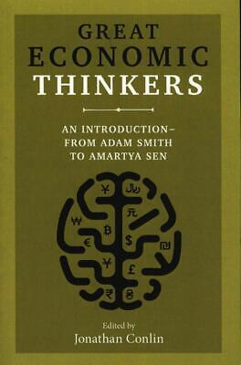 AU19.95 • Buy Great Economic Thinkers An Introduction From Adam Smith To Amartya Sen Hardcover