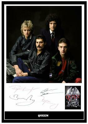 £5.99 • Buy (#167)  Queen Freddie Mercury Signed  A4 Photo//framed (reprint) Great Gift ++