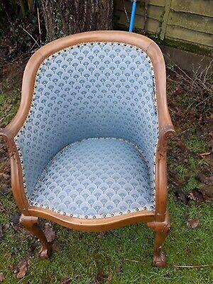 £150 • Buy Antique  Tub Chair With  Cabriole Leg ,  Claw And Ball  Feet
