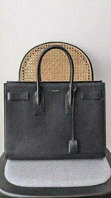 AU1216 • Buy Authentic Saint Laurent Black Sac De Jour Bag