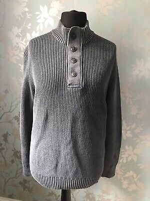 £9.99 • Buy Camel Active Mens Slate Grey 100% Cotton Ribbed Jumper Sweater Size S Small