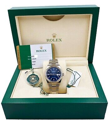 $ CDN11866.85 • Buy BRAND NEW Rolex Datejust 126234 Blue Dial Stainless Steel Box Papers