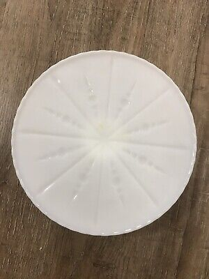 $22 • Buy Milk Glass Cake Stand Plate Vintage